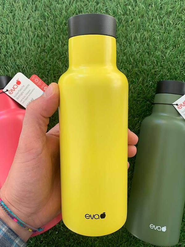 Insulating thermos bottle, with automatic vacuum cap 450 ml