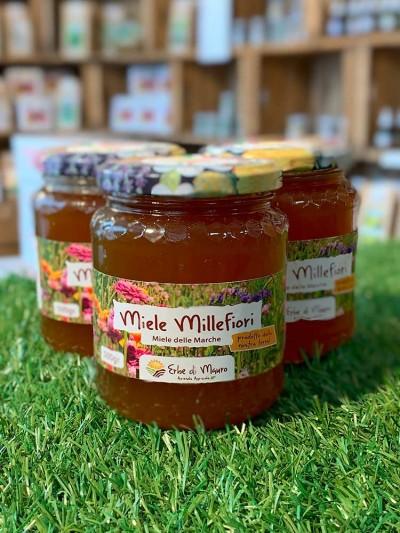 Miele millefiori grezzo italiano, non pastorizzato 500g-Dolcificanti naturali