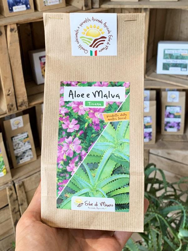 Aloe Arborescens e Malva 70-500g e 1kg-Tisane digestive