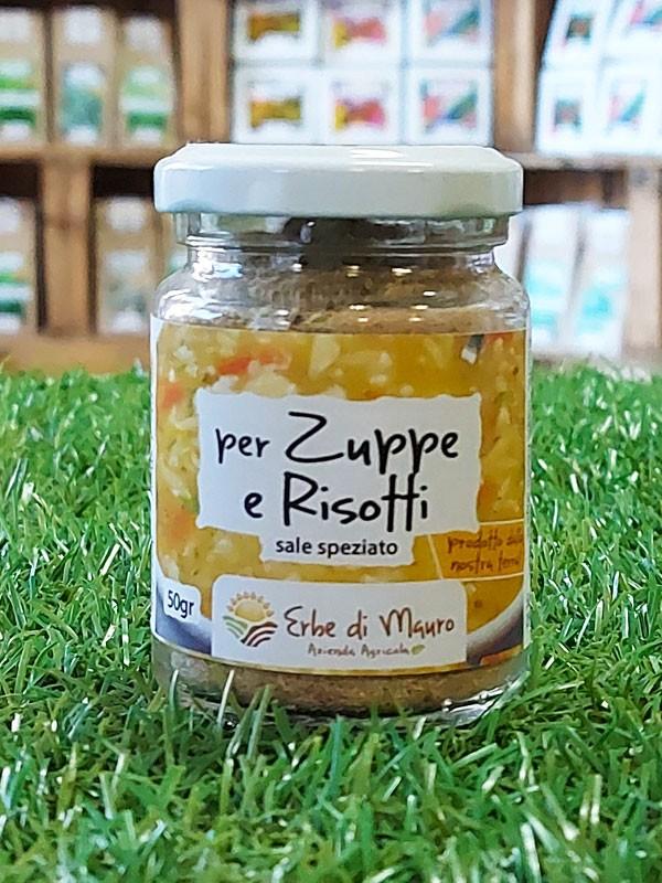 Zuppe, Risotti e Sughi. Sale speziato 50-500g, 1kg-Spezie