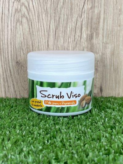 Scrub Viso all'Aloe Vera e Mandorla, 50ml-Cosmetici all'Aloe Vera