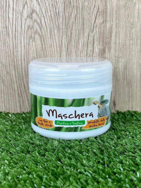 Maschera per il Viso Aloe Vera e Argilla Verde, 100ml-Cosmetici all'Aloe Vera