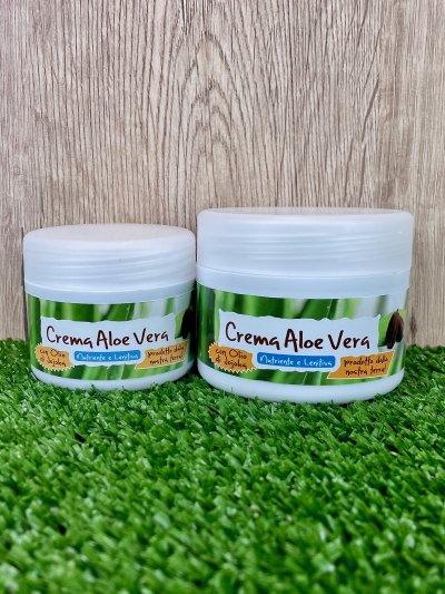 Crema all'Aloe Vera e Jojoba: Idratante e lenitiva 50/100ml-Cosmetici all'Aloe Vera