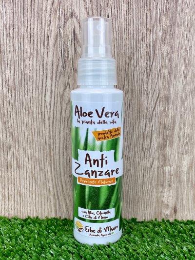 Spray Anti Zanzare, Aloe Vera, Citronella ed Olio di Neem 100ml-Cosmetici per l'Estate
