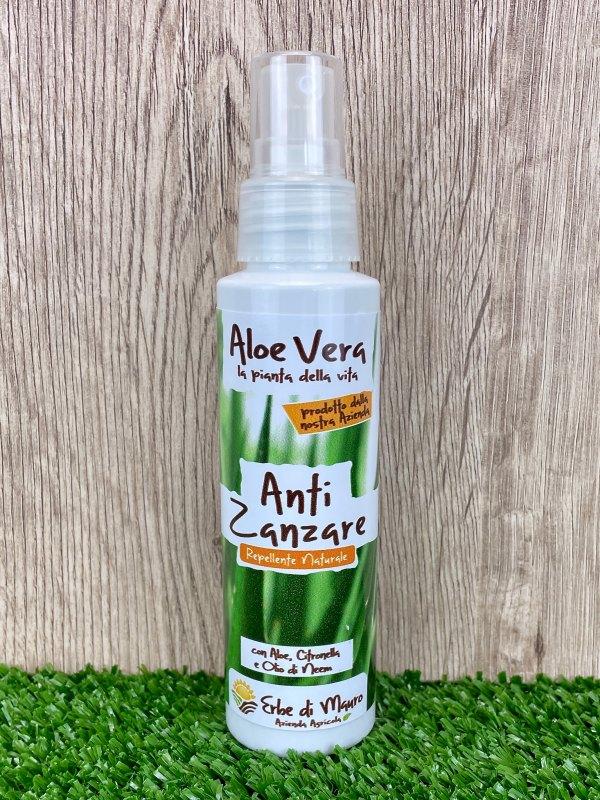 Spray Anti Zanzare, Aloe Vera, Citronella ed Olio di Neem 100ml-Creme per l'Estate