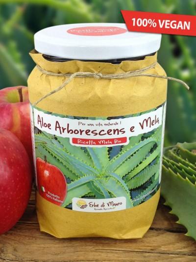 Aloe Arborescens del Frate, con Mela-Succhi e composti di Aloe