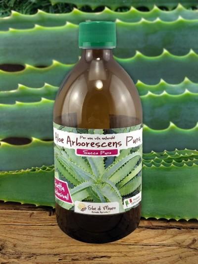 Succo Puro di Aloe Arborescens 99,80%, 500ml-Puro succo di Aloe