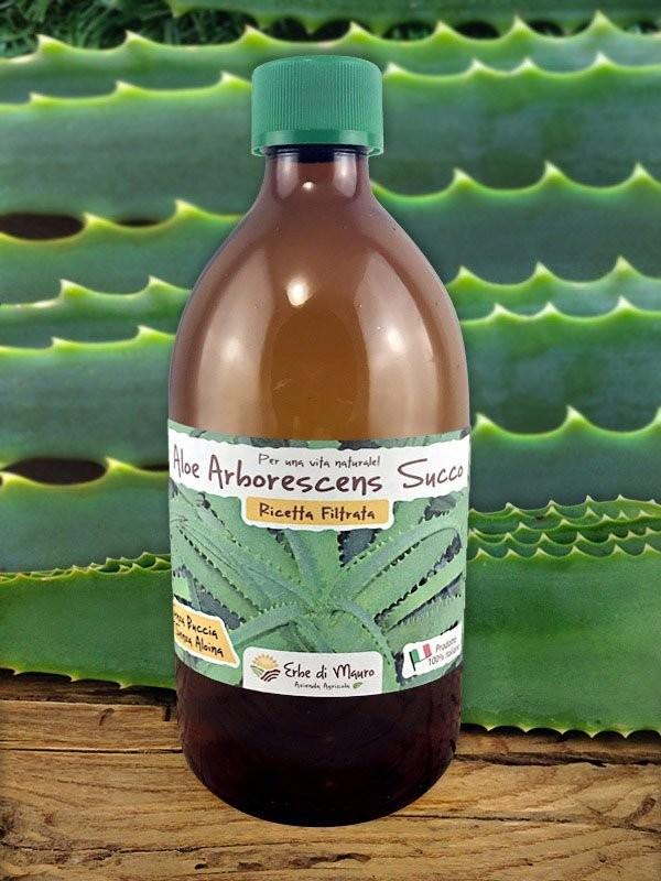 Aloe Arborescens Filtrato senza Buccia, 500ml-Succhi e composti di Aloe