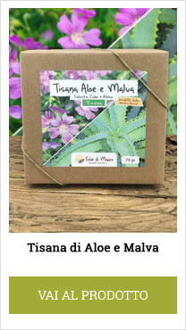 mauve and aloe herbal tea
