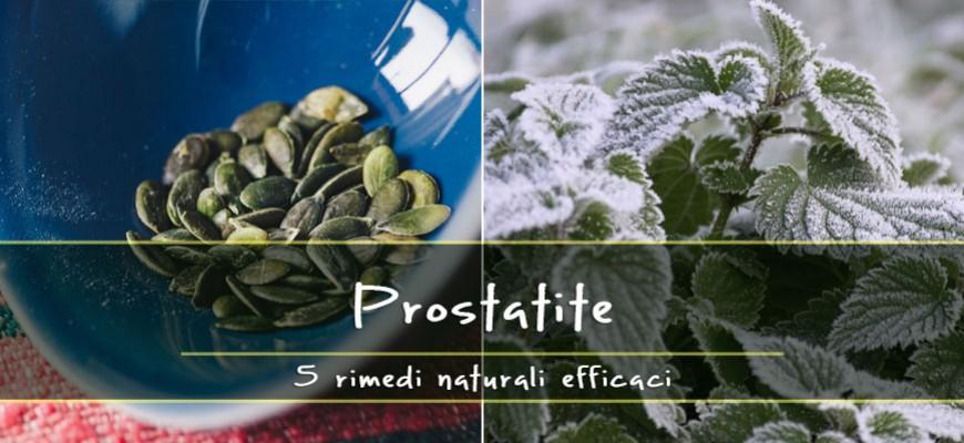 riduzione naturale della dimensione della prostata
